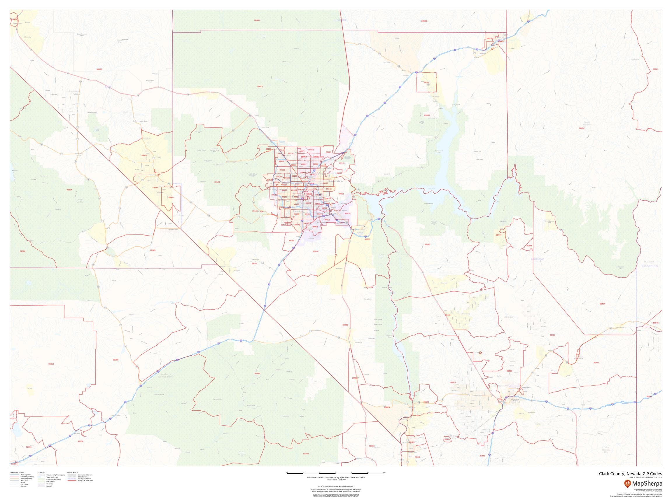 Conn Zip Code Map Clark County, Nevada ZIP Codes