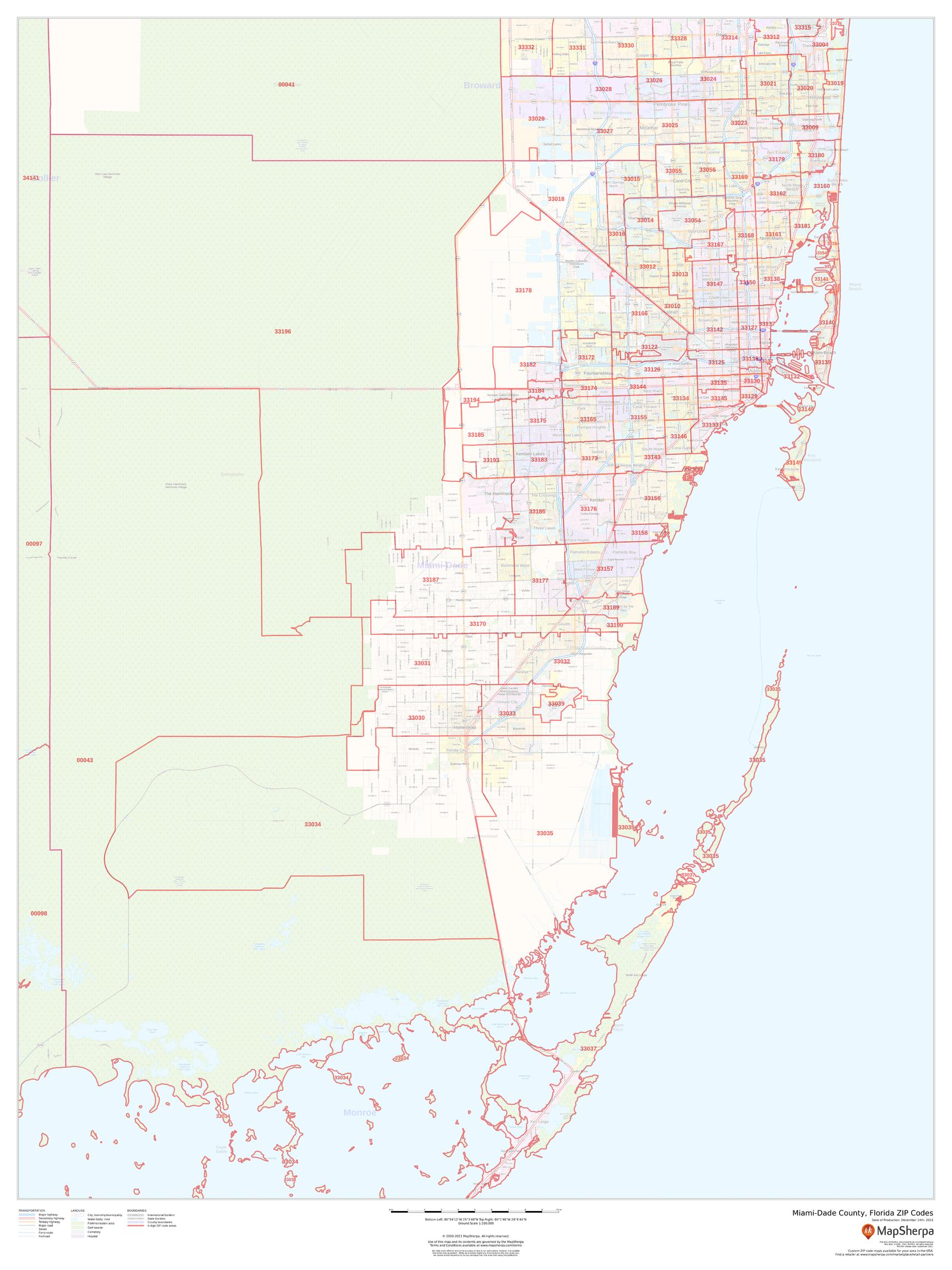 Miami Dade County Zip Code Map Miami Dade County, Florida ZIP Codes