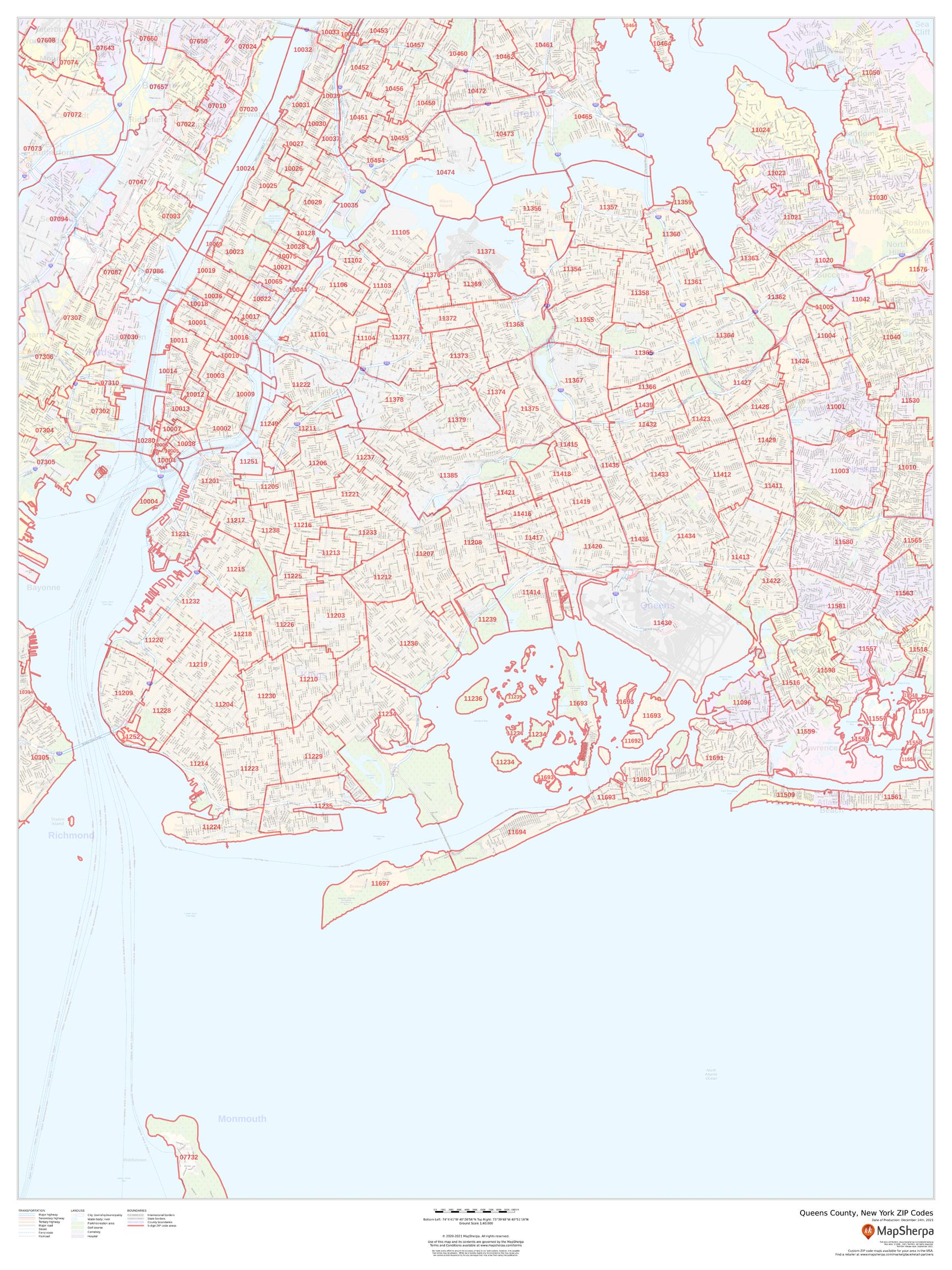Queens County New York Zip Codes