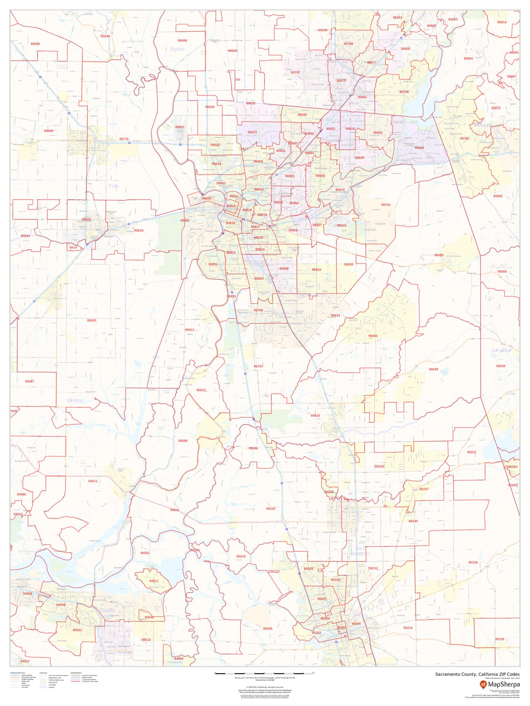Sacramento County California Zip Codes
