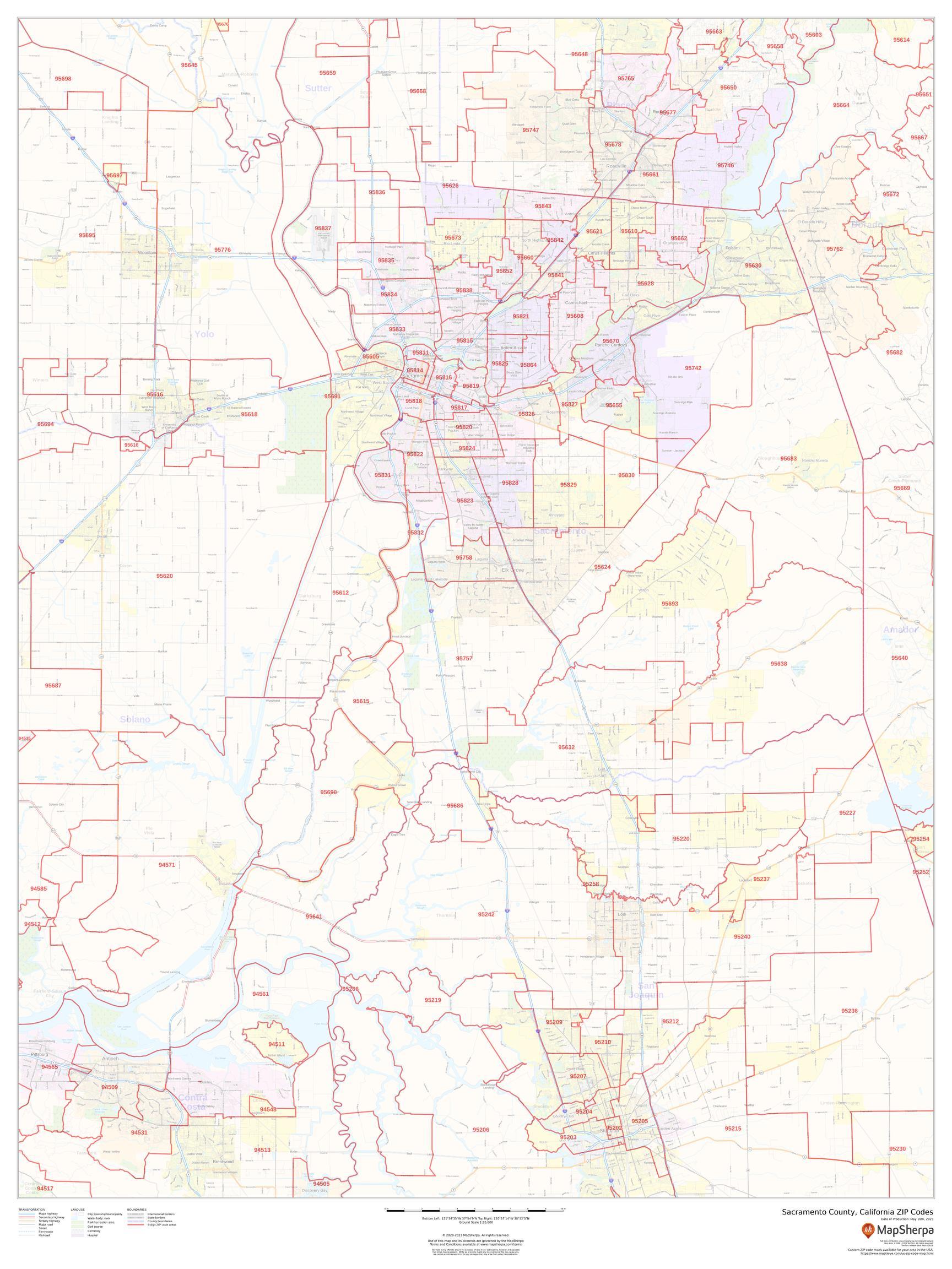 Sacramento County, California ZIP Codes
