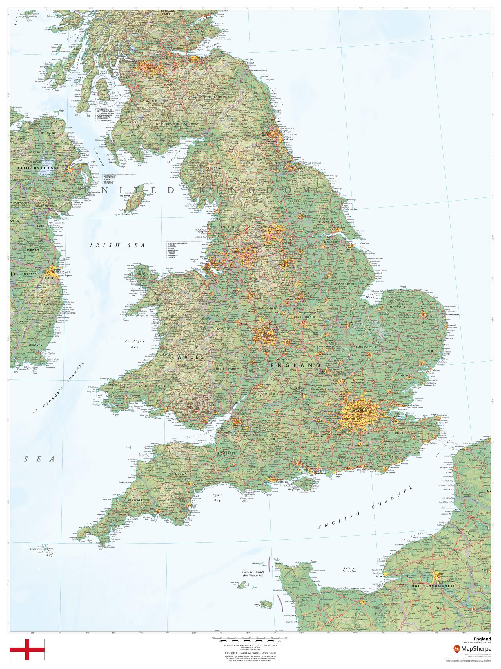 Map Of England Zoom.England