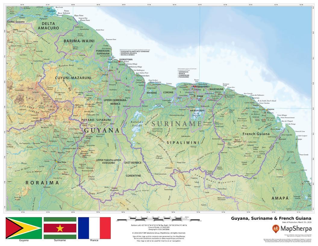 Guyana, Surinam & French Guiana