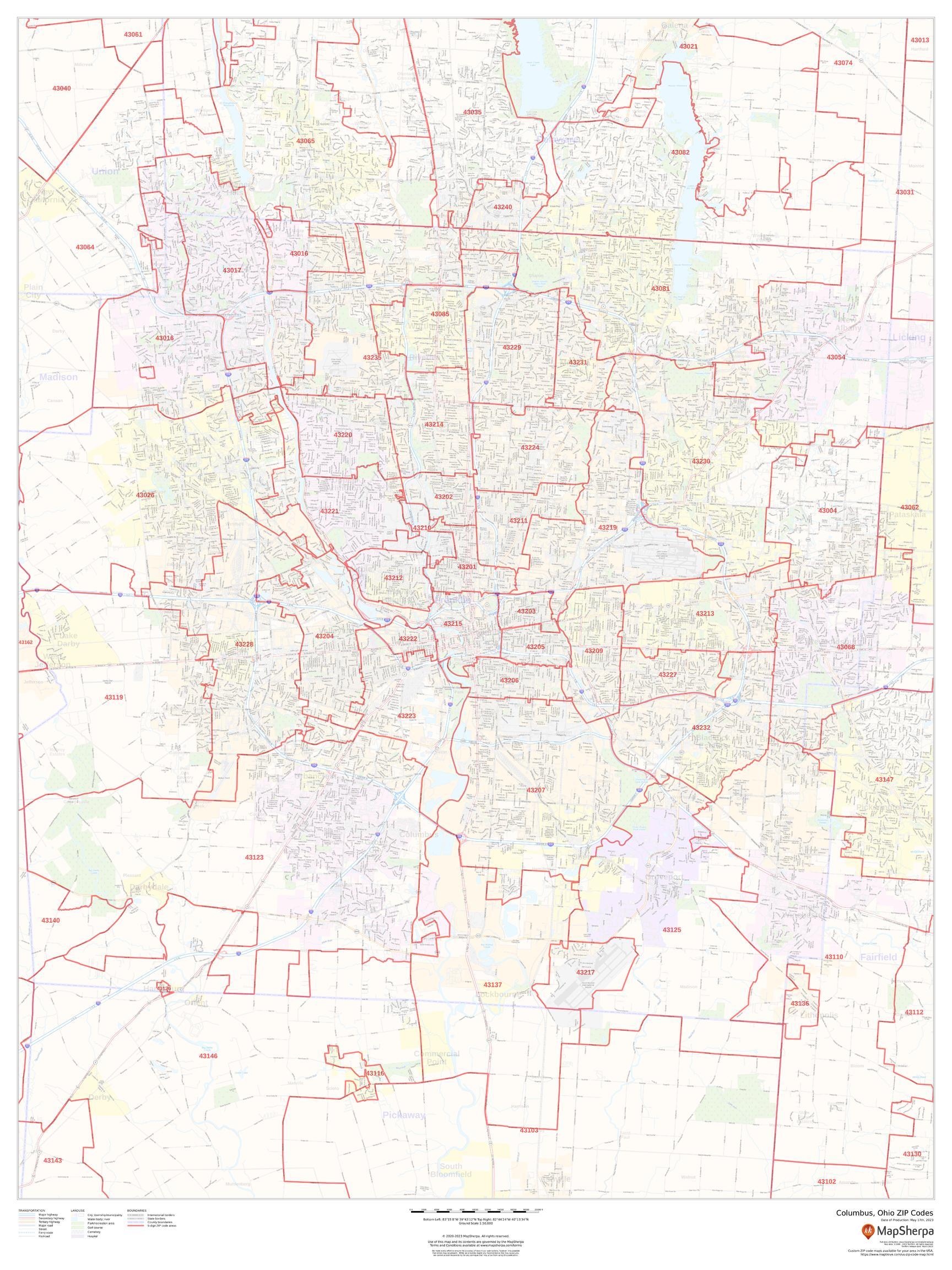Picture of: Columbus Ohio Zip Codes