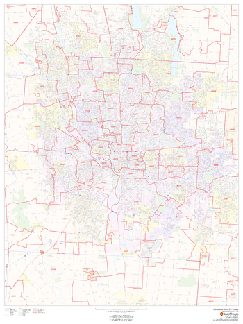 Columbus, Ohio ZIP Codes