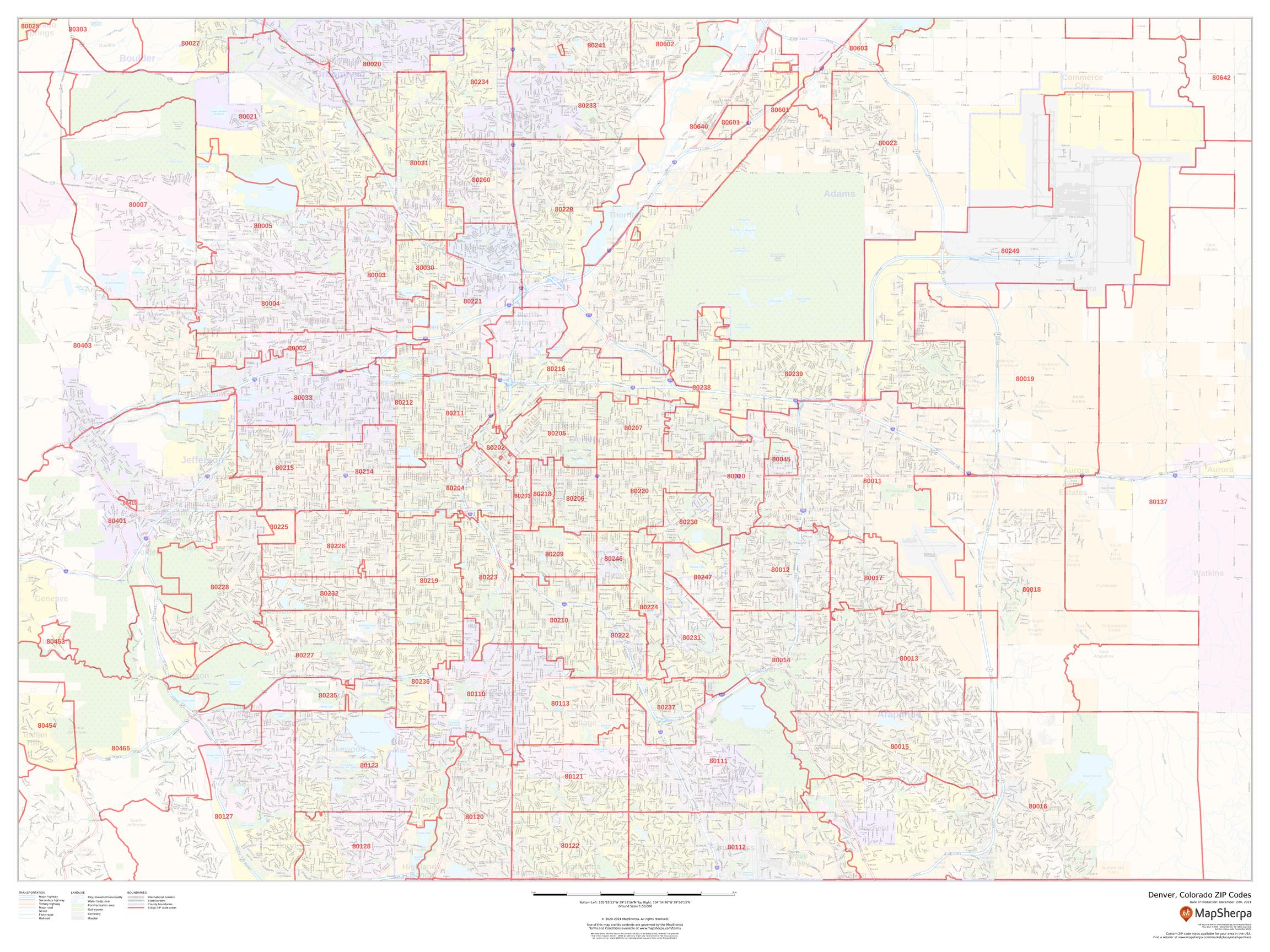 Denver, Colorado ZIP Codes