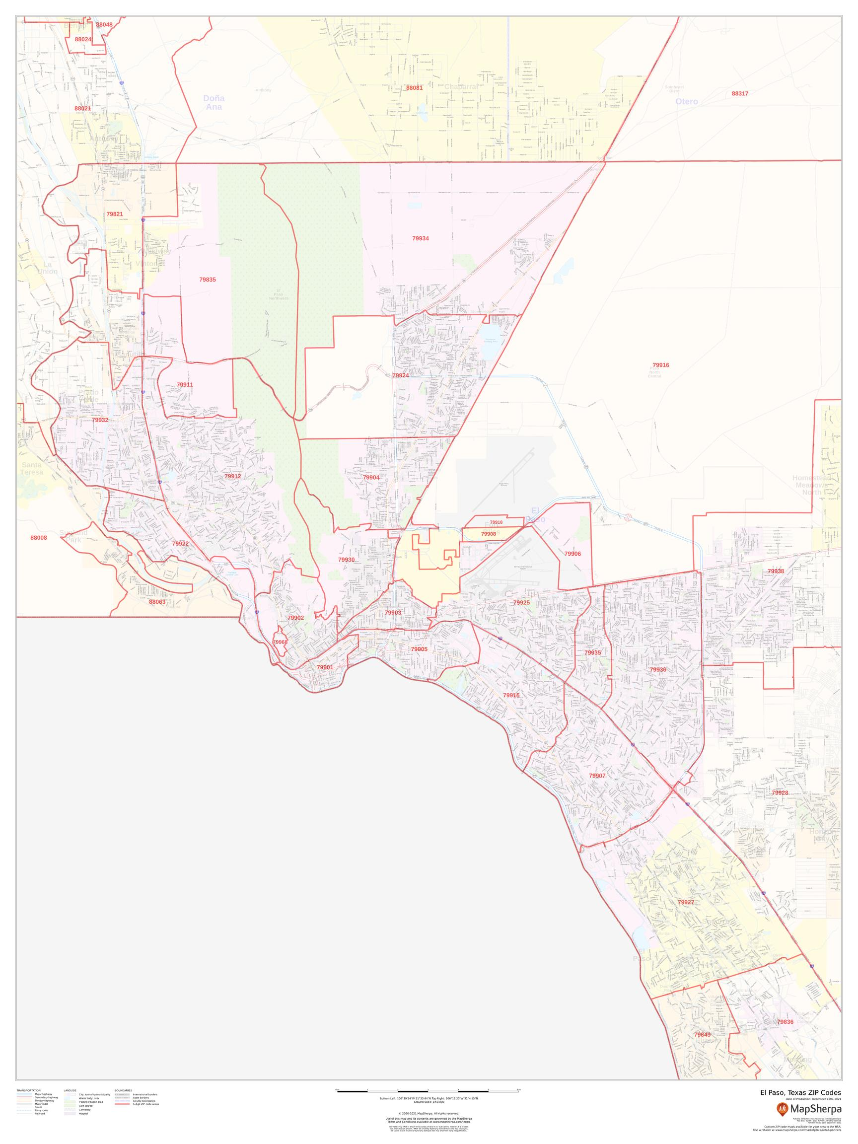 El Paso, Texas ZIP Codes