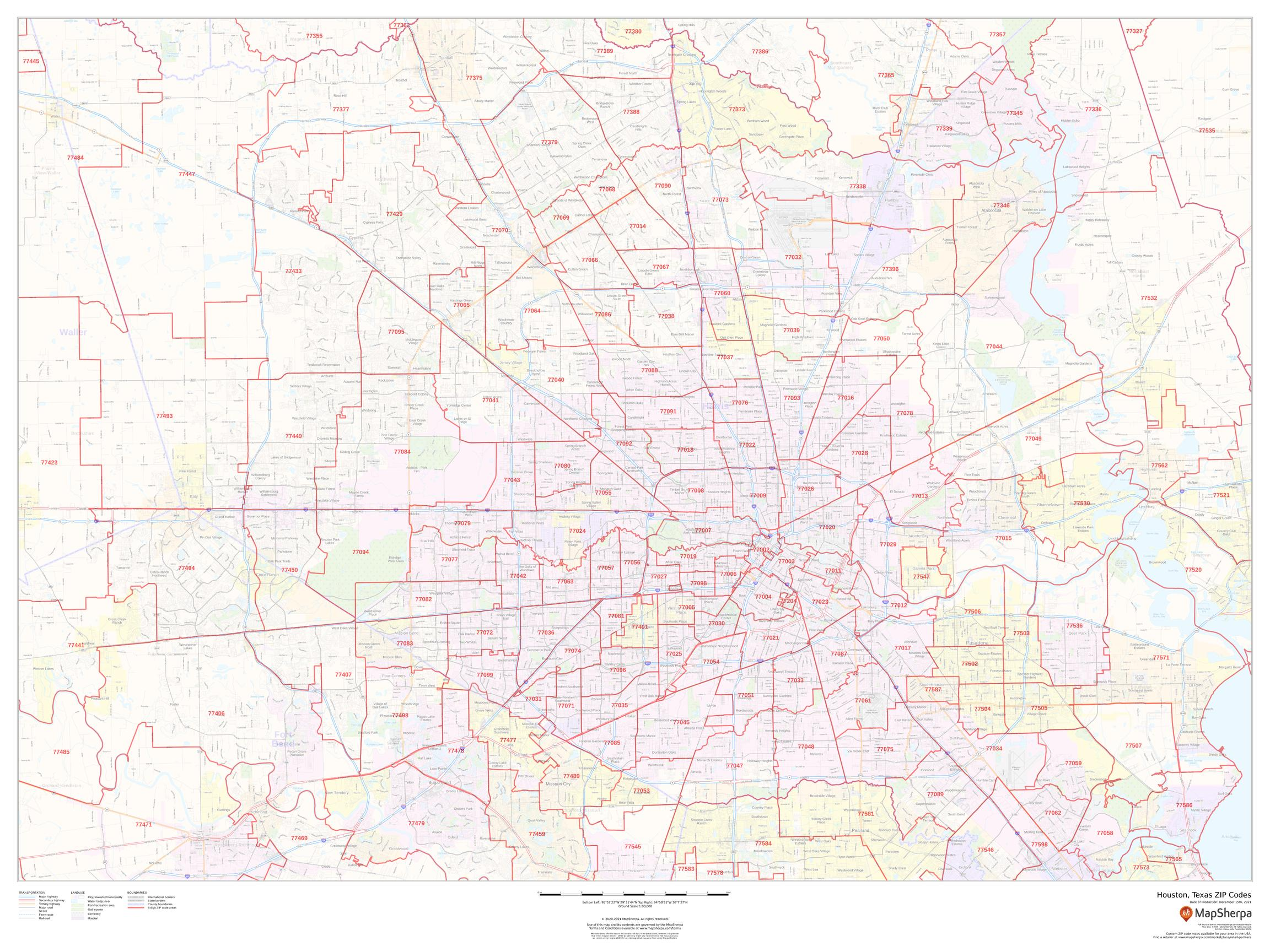 Houston, Texas ZIP Codes