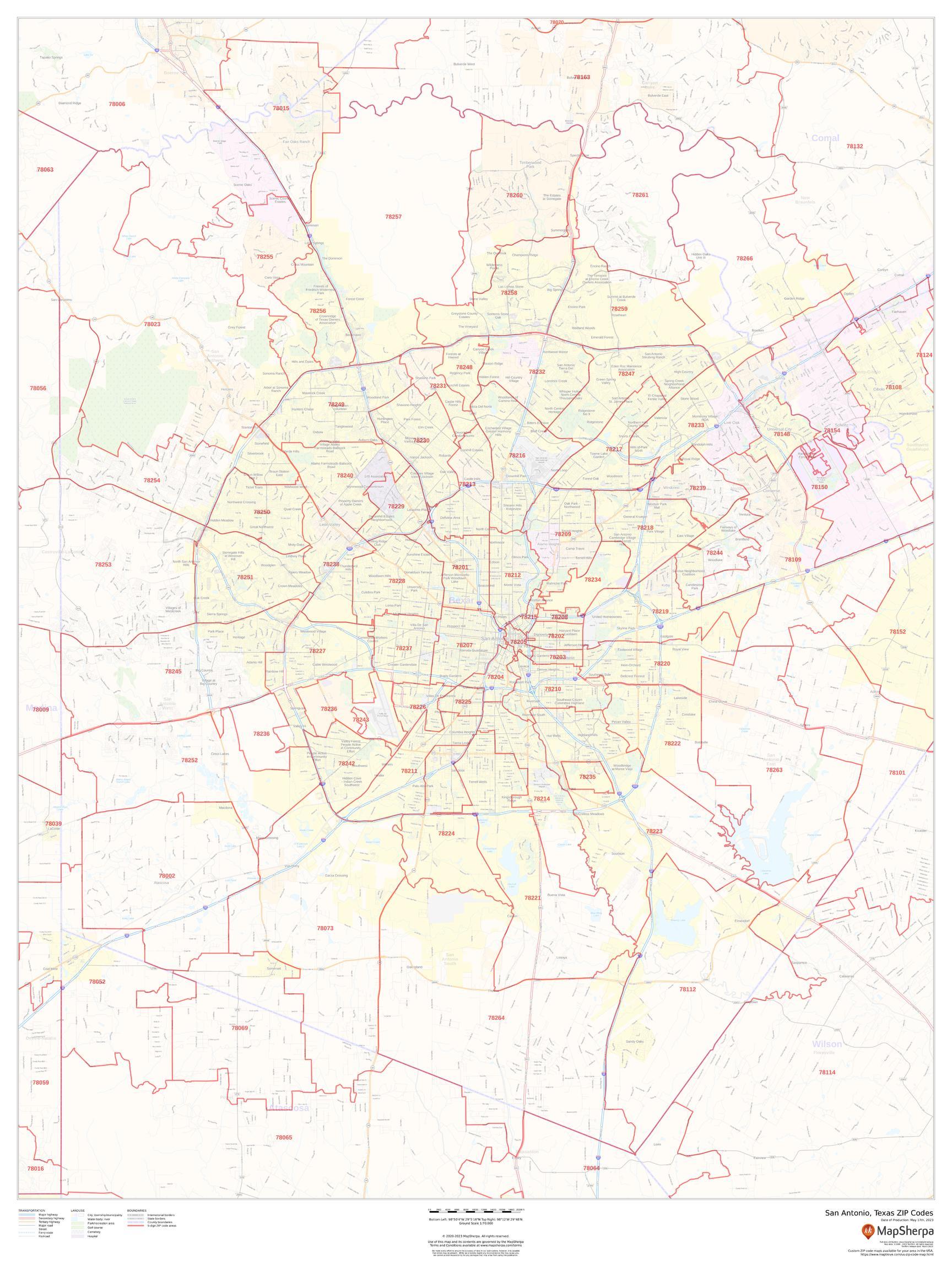 San Antonio, Texas ZIP Codes