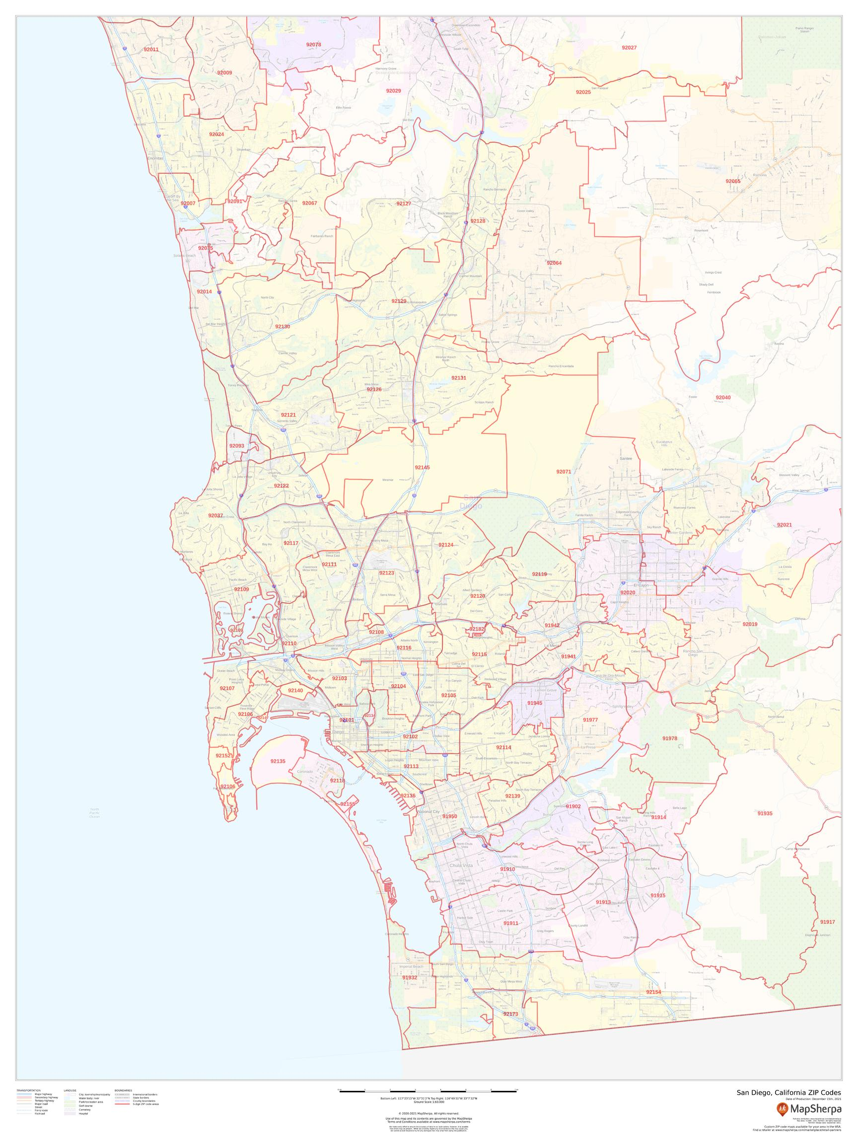 San Diego, California ZIP Codes