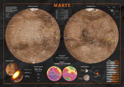 Mars Wall Map - Italian