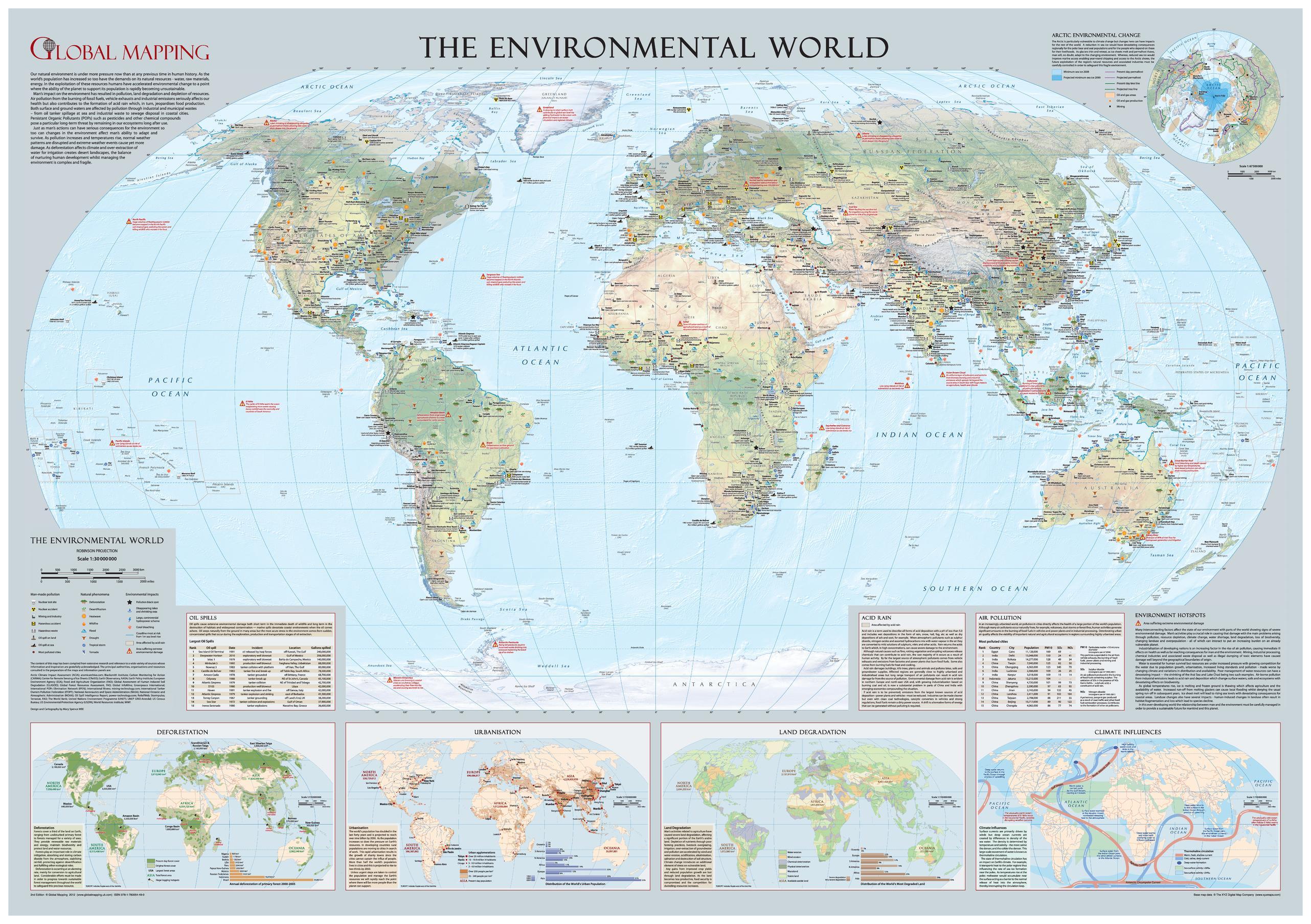 Environmental World Wall Map - Large