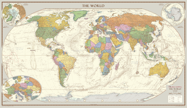 World a z maps antique style world map extra large gumiabroncs Images