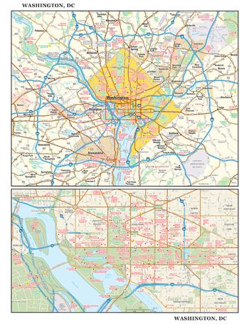 Washington, DC Wall Map