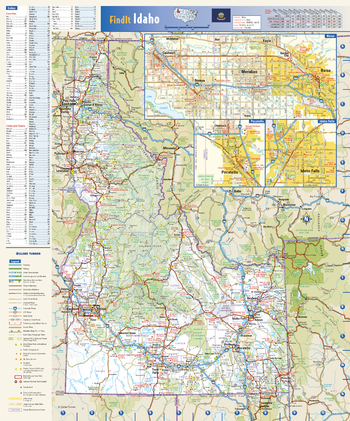 Idaho State Wall Map