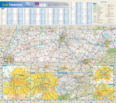 Tennessee State Wall Map