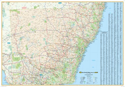 New South Wales State Wall Map