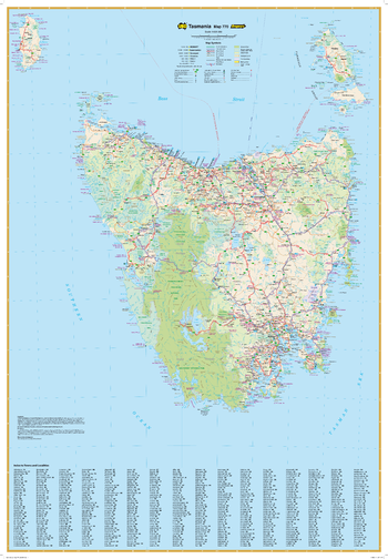 Tasmania State Wall Map