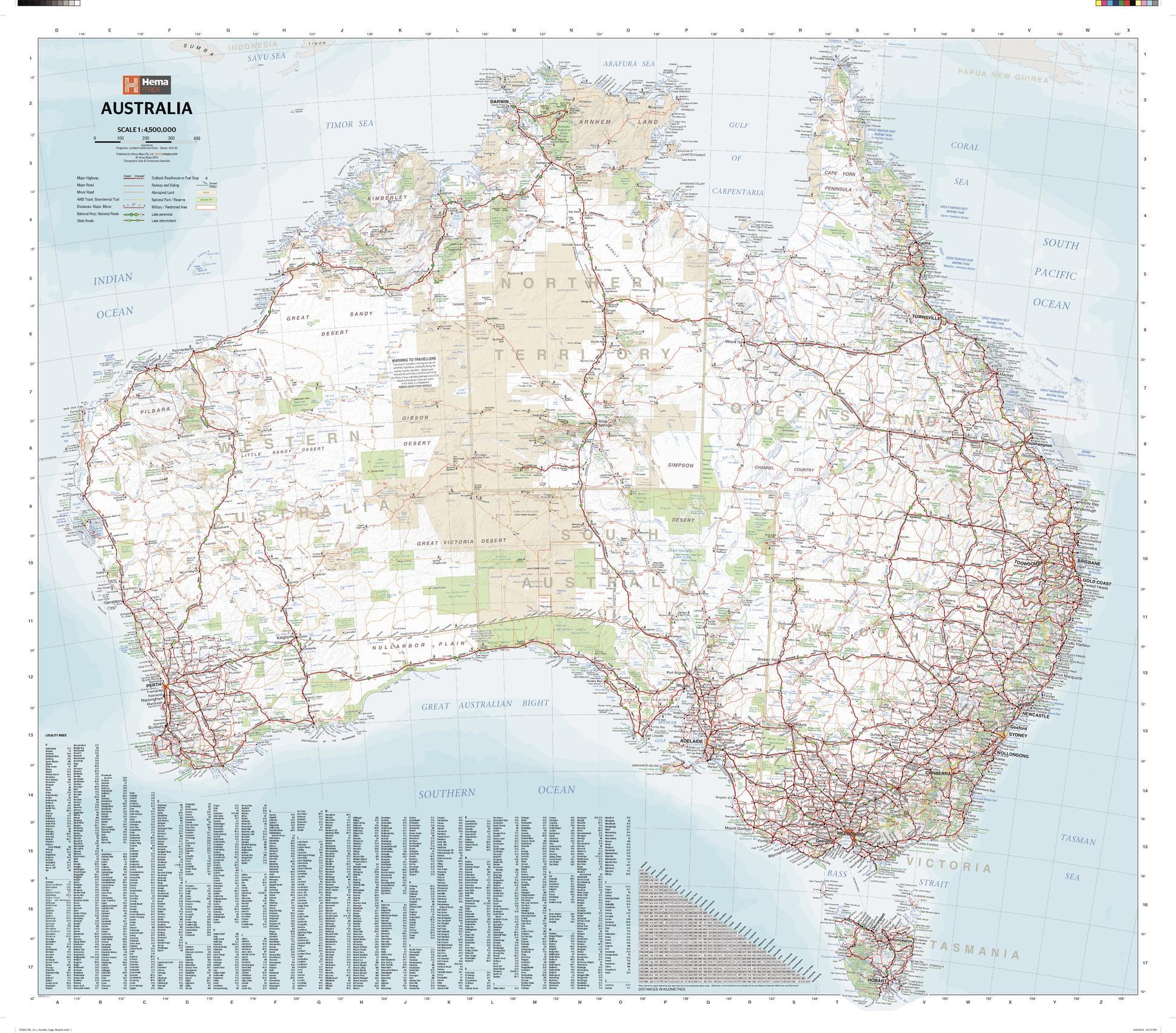 sample map australia mega map