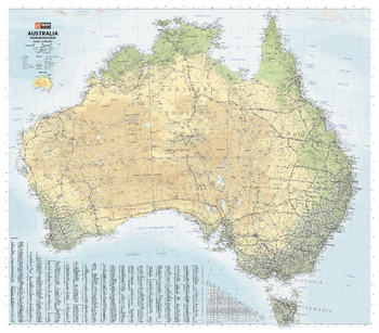 Australia Road & Terrain Mega Map