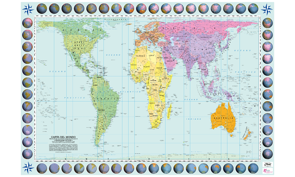Mapsherpa pod world maps all east west lines run parallel thus the relationship of any point on the map to its distance from the equator or the angle of the sun can readily be gumiabroncs Images