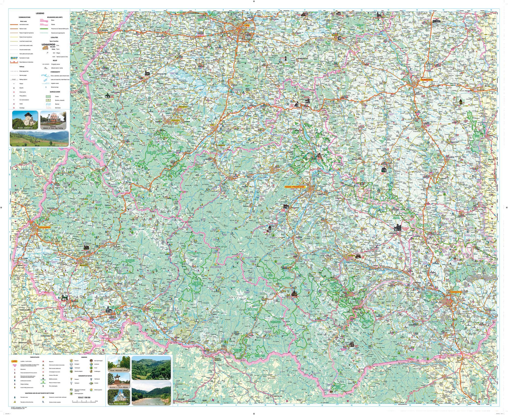 Carpatians Tourist Map - Latynka