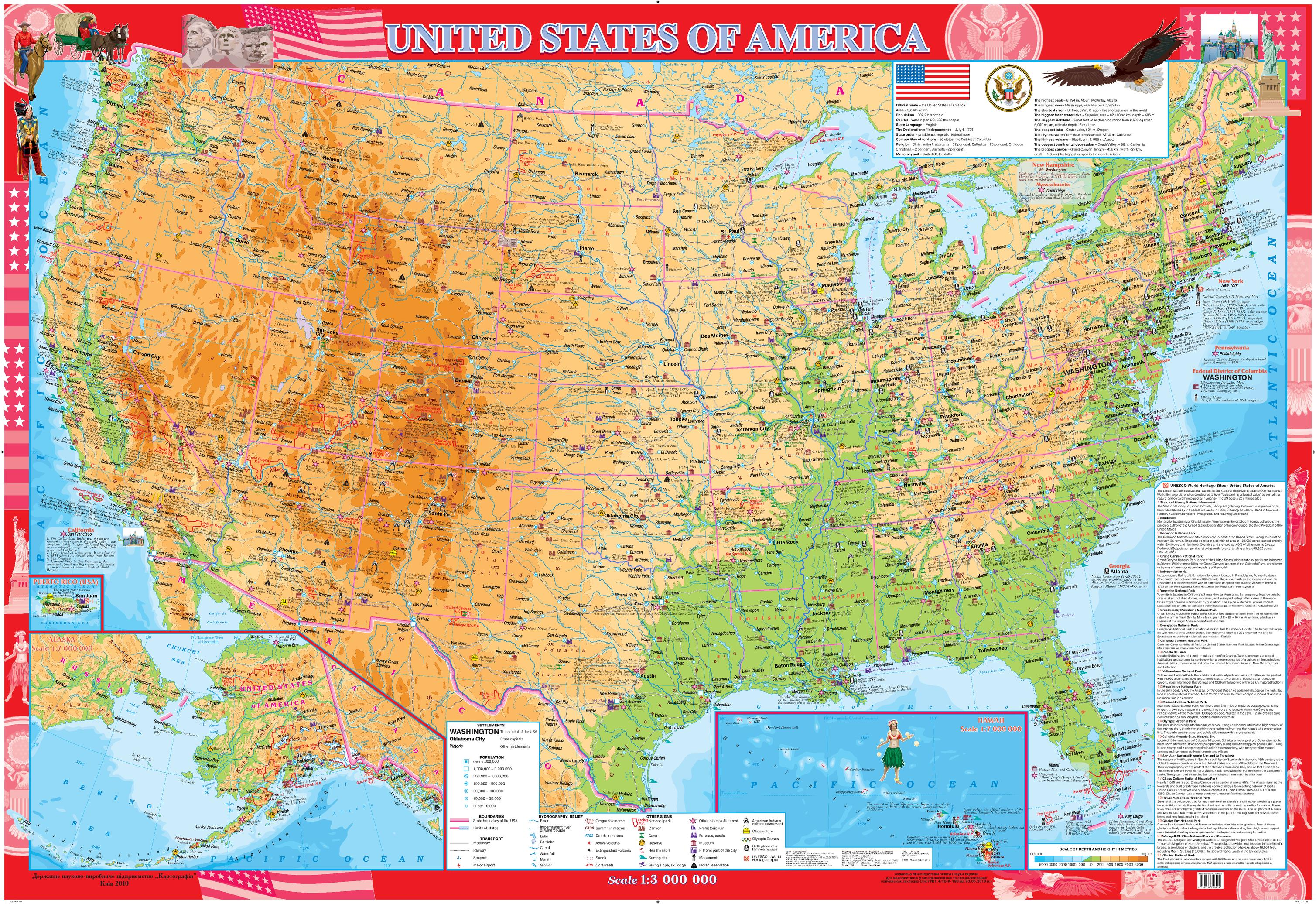 USA Wall Map - Extra Large