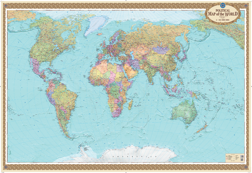 MapSherpa POD World Maps - Show the map of the world