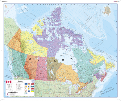 Canada Political Wall Map