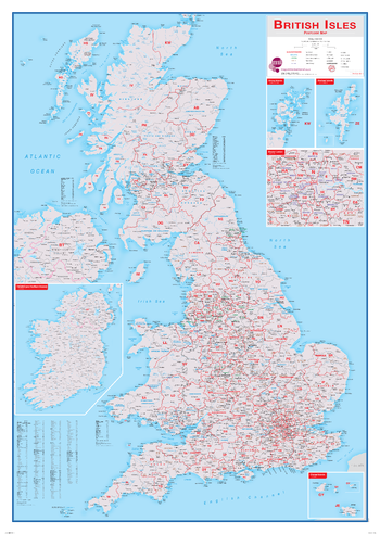 British Isles Postcode Map