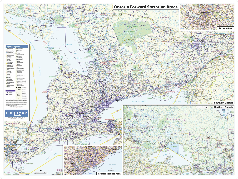Ontario FSA Wall Map
