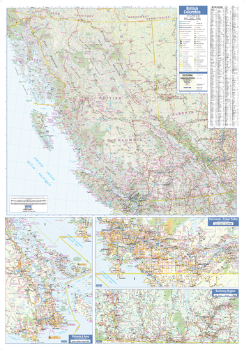 British Columbia Wall Map - Large
