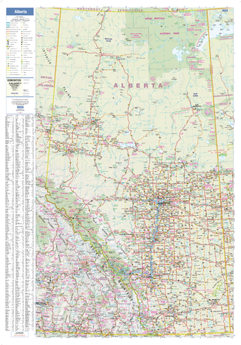 Alberta Wall Map - large