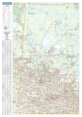 Saskatchewan Wall Map - small