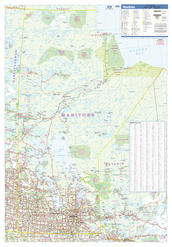 Manitoba Wall Map - large