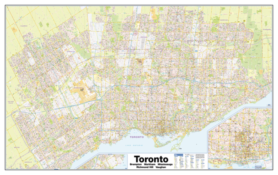 Greater Toronto Wall Map