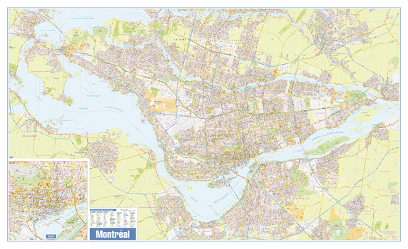 Greater Montreal Wall Map