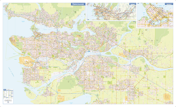 Greater Vancouver Wall Map