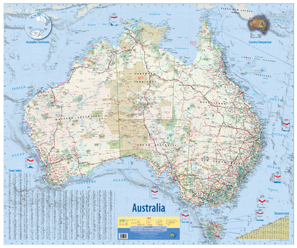 Australia Wall Map 2nd Edition