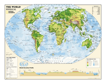 Mapsherpa pod world maps our physical series grades 6 12 helps advancing students understand the worlds diverse landforms oceans and terrain sample map gumiabroncs Choice Image