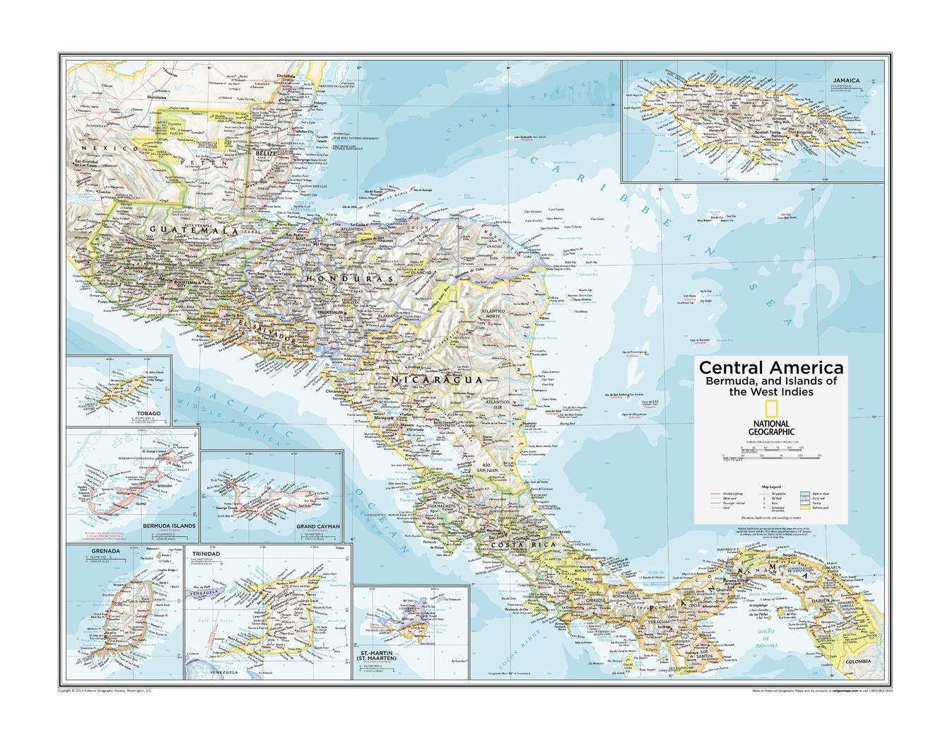 Central America, Bermuda, and Islands of the West Indies