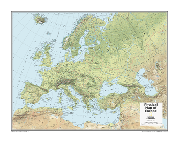 Europe Physical - Atlas of the World, 10th Edition