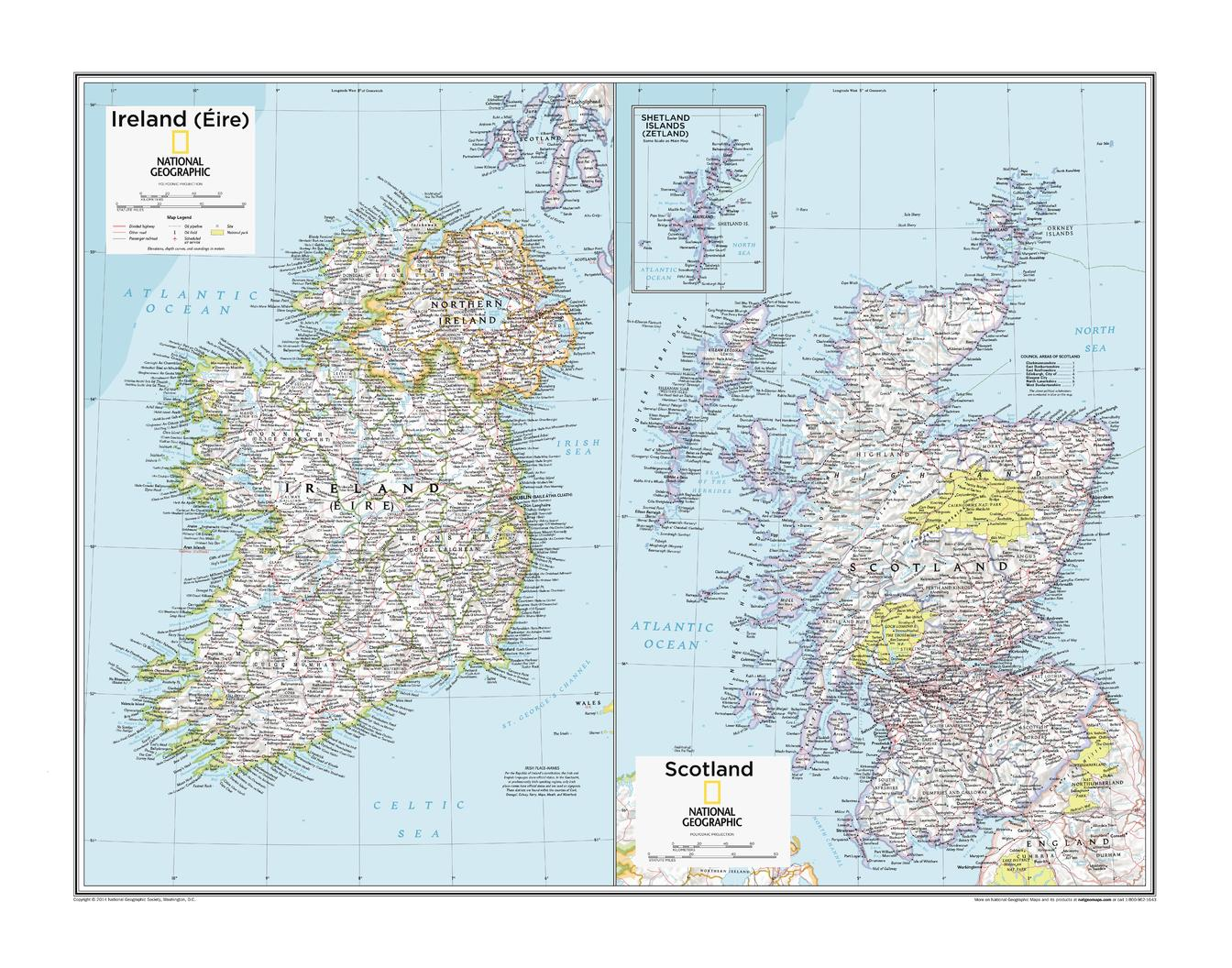 Ireland (Éire) and Scotland