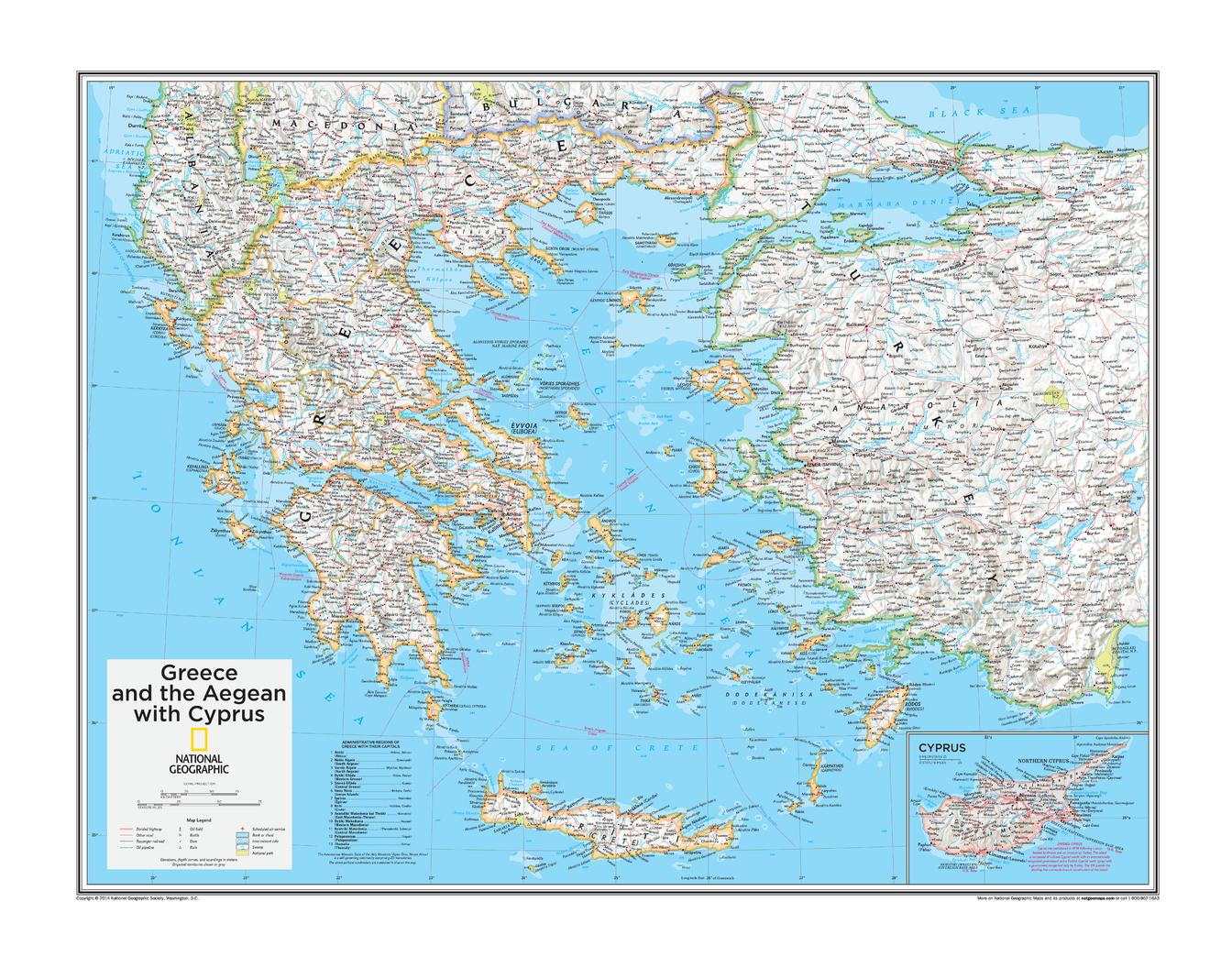 Greece and the Aegean with Cyprus