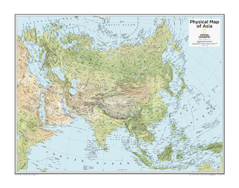 Asia Physical - Atlas of the World, 10th Edition