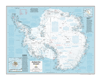Antarctica Political - Atlas of the World, 10th Edition