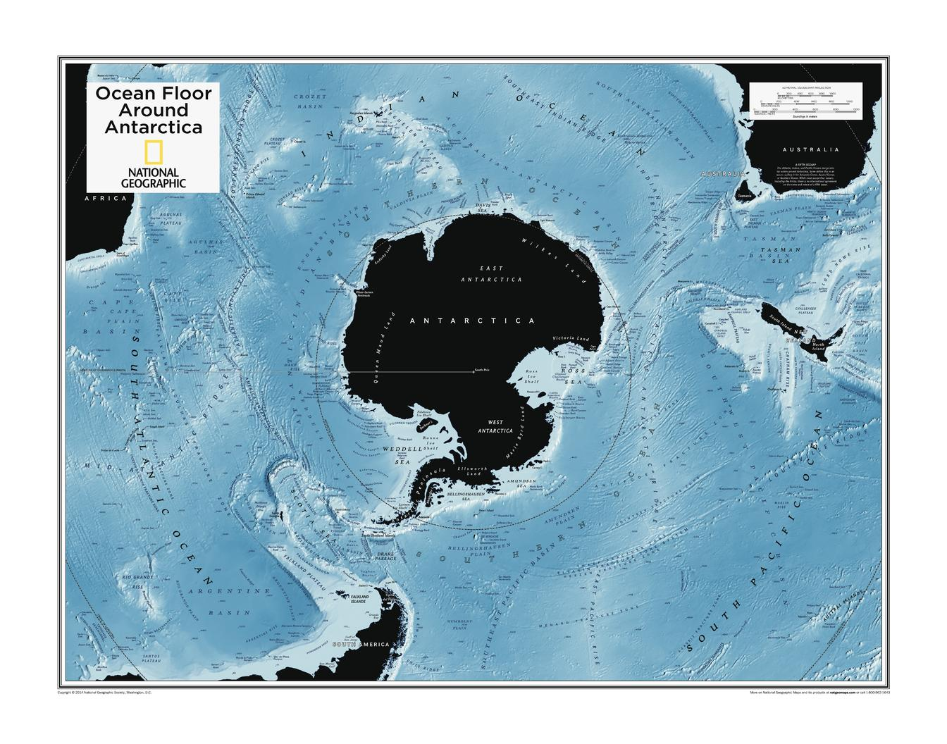 Ocean Floor around Antarctica