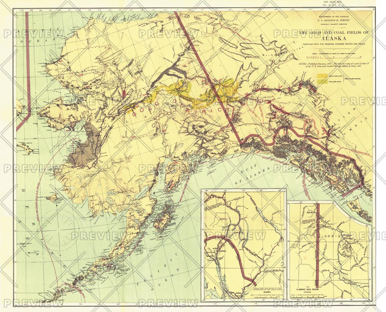 Gold and Coal Fields of Alaska - Published 1898