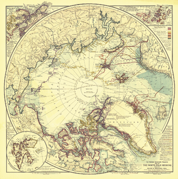 North Pole Regions  -  Published 1907