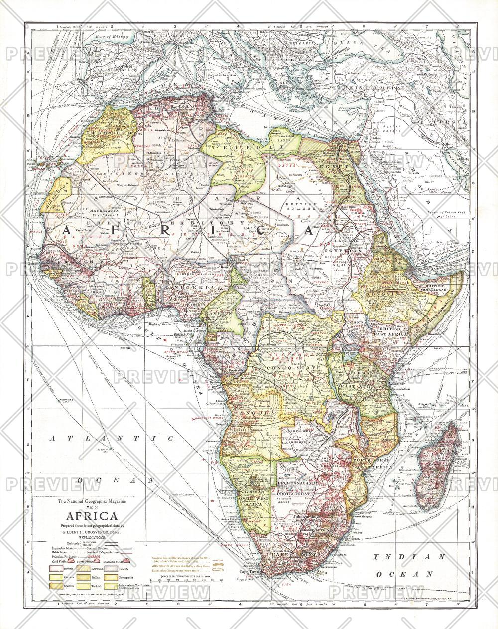 Africa - Published 1909